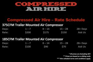 Diesel Compressor Hire Rates